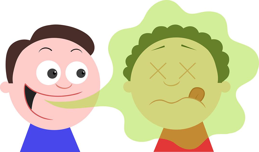 Slab zadah pri otrocih