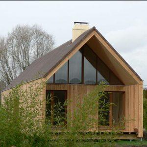 Lesena hiša je tako prijetna na pogled